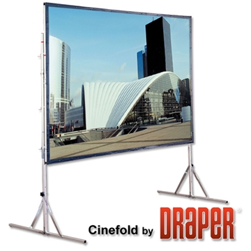 5m (16') Draper UFS Fastfold Screen- 16 x 9 Ratio Screen Hire