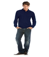 B&C Collection Heavymill Long Sleeve Polo