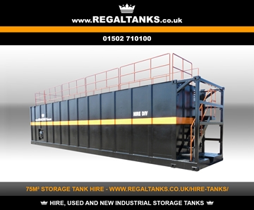 75m3 Litre Rectangular Storage Tanks