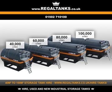 40m3, 60m3, 80m3 and 100m3 Litre Horizontal Storage Tanks