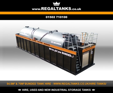 54.5m3 & 70m3 Litre Bigger Better Bunded Storage Tanks