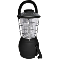 12 LED Lantern Wind Up Camping Light Battery Operated Lamp & Compass