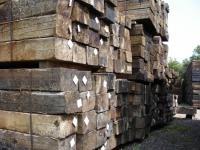 Used European Pine railway sleepers G1/2
