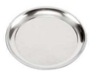 """1.5"""" Deep Proof Lined Silver Anodised Pizza Pan"""