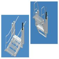 Folding Stair with Safety Cage