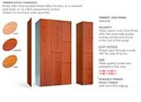 TIMBER * FACED LOCKERS