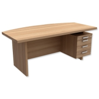 Adroit Virtuoso Bow Fronted Executive Desk