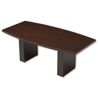 Rectangular Dark Walnut Boardroom Table