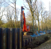 Fambo excavator mounted piling hammers and leaders