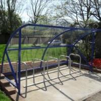 10 Space BDS Cycle Shelter with Toastrack