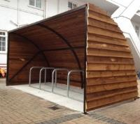 Alpine Shiplap Wooden Cycle Shelter