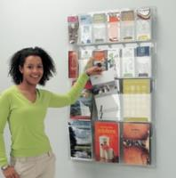 Clear Wall Mounted Literature Dispenser