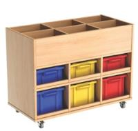 Busybase Mobile Book and Tub Storage Unit