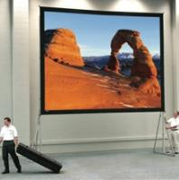 Fastfold Deluxe Large Portable Projection Screen