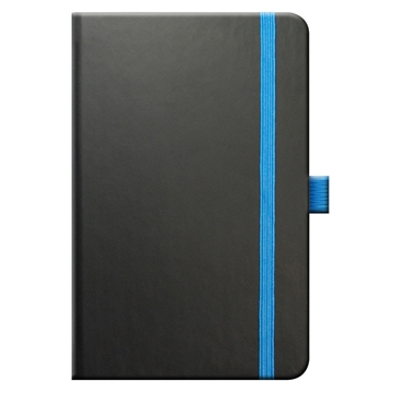Tucson Edge Notebook - Black with Blue Edged Papers