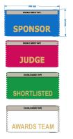 Ribbons for competitions - judge, shortlisted etc