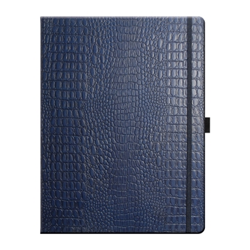 Mock croc notebook in blue from Stablecroft