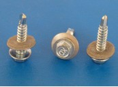Self Drill Screw, Stainless Steel, 5.5mm x 25mm with 16mm dia washer, bonded with EPDM