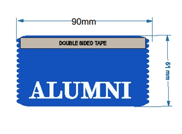 Alumni ribbons - horizontal - ideal for student events