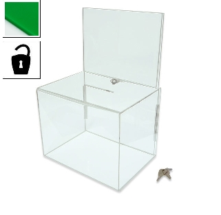 Large green ballot box for meetings and events