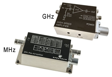 SPA Instrumentation preamplifier modules, MHz and GHz.