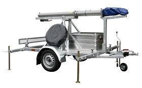 Trailer Mounted Pneumatic Mast – up to 12m