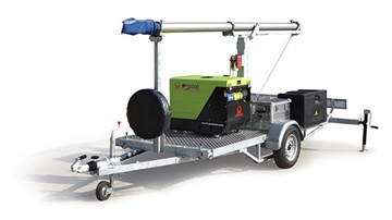 Trailer Mounted Pneumatic Mast – up to 30m
