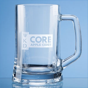 Large Straight Sided Engraved Tankard