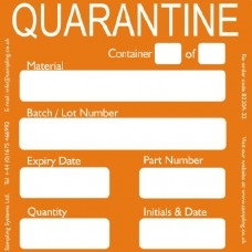 Quarantine Quality Control Labels