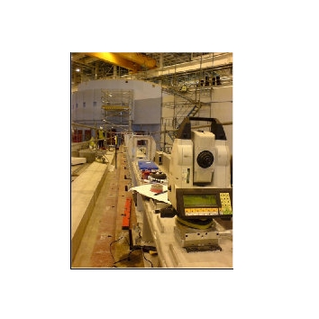 Alignment of rolling mill machinery to sub-millimeter accuracies