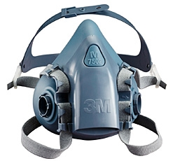 3M Silicone Half Face Safety Mask