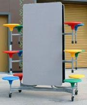 One person operation foldable furniture