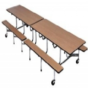 Folding bench table