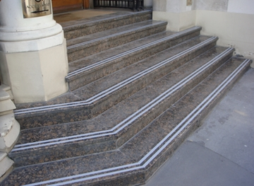 External Marble Steps Anti-Slip Visual Lining & Coating Systems Application Specialist Services - Witham, Essex