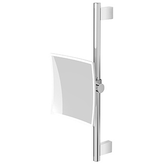 Granada Wall Mounted Square Mirror with Adjustable Height