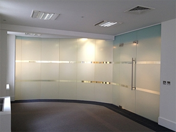 Coloured Partitioning Glass Film Installations