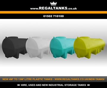 4m3 to 13m3 Litre Horizontal Plastic Storage Tanks