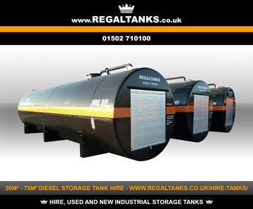 20m3 to 70m3 Litre Bunded Diesel Storage Tanks