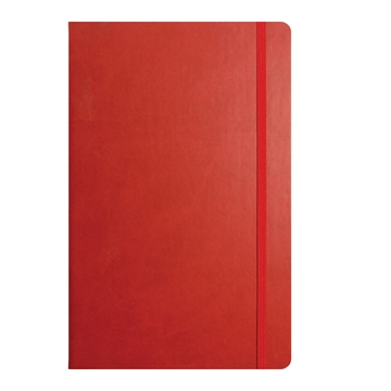 Tucson flexible cover notepad - red and a range of colours