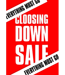 Closing Down Sale Posters (A3-A0)