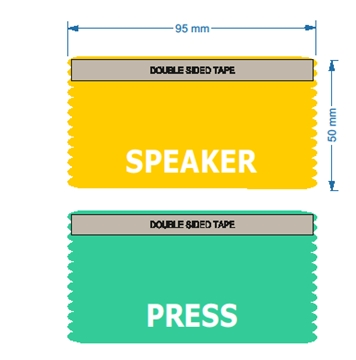 Speaker and Press Ribbons with White Print