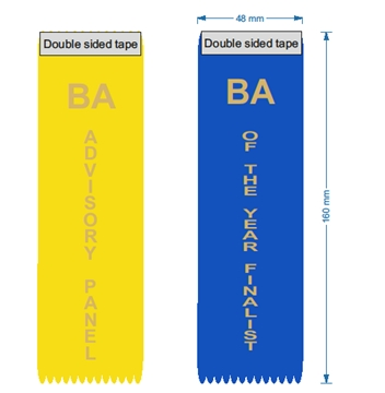 Vertical ribbons for conferences and events