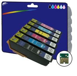 1 Full Set of Compatible Ink Cartridges for Epson Expression Photo XP-950 [E2431-6]