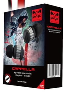 Psyc Cappella Earphones with Noise Isolation & Built-in Mic