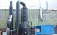 Traditional Packed Column Fume Scrubbers