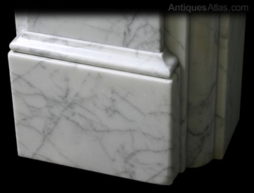 Early Victorian Carrara Marble Fire Surround