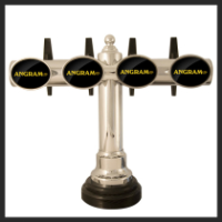 Brass Or Chrome T/Bar Keg Dispensers