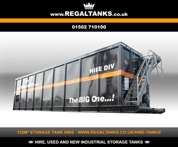 125m3 Litre Storage Tanks