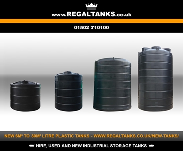 6m3 to 30m3 Litre Vertical Plastic Storage Tanks