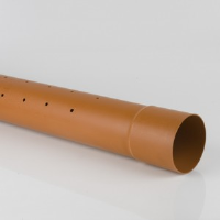 160MM PERFORATED PIPE (6 METRE LENGTHS)